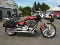 Victory Vegas 08/58reg Red 24601miles Panniers, screeen, back rest