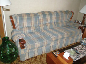 Fabric Sofa / Couch and Chair by Broyhill Home Furnishings