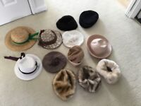 A Selection of Ladies Hats