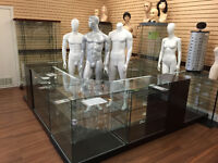 Glass showcases & Mannequins