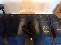 True Religion, Burberry, PRPS, and Ernest Sewn jeans