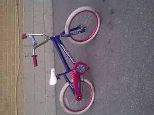 $25 blue and pink Huffy bmx girl's 20 inch bike