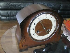MANTLE CLOCK PERIDALE MADE IN ENGLAND WESTMINSTER CHIMES /