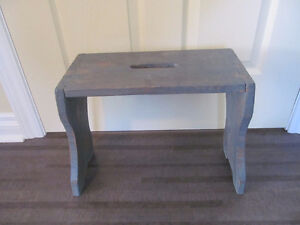 Antique wooden dove-tailed stool or small bench