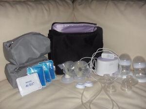 Philips Avent double breast pump / Tire-lait West Island Greater Montréal image 3