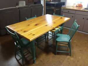 Harvest table and chairs