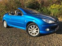 *3 MTHS WARRANTY*2006(06)PEUGEOT 206 1.6 CONVERTIBLE ALLURE WITH 75K*