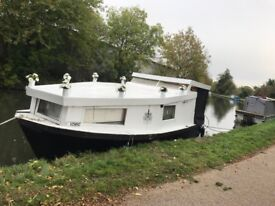 Houseboat, widebeam, canal boat, live aboard, studio flat £19,000ono