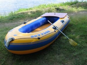 Sevylor Inflatable 3 Person Fishing Boat w/oars