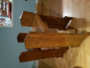 2 Early - Mid Century Solid Oak Plant Stands / Tables