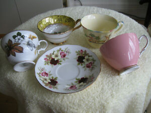 ODD FINE BONE CHINA [MADE in ENGLAND] CUPS & SAUCER