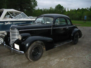 1938 OLDSMOBILE COUPE MINT RESTORED CAR VERY RARE .The car has 6