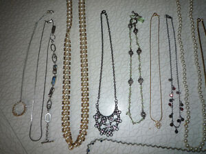 Assorted nice Jewellery lot - Earrings, pins, necklaces, more!