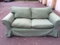 IKEA EKTORP Green Two seat sofa free London delivery