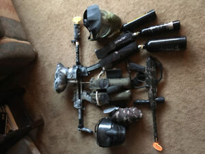 2 sets of Paintball Gear - $200