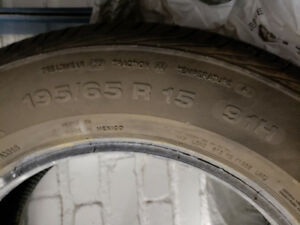2 Continental ContiProContact 195/65/15 all season tires