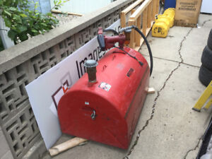 99 gallon diesel tank with 20GPM pump