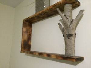 Homemade wooden shelf