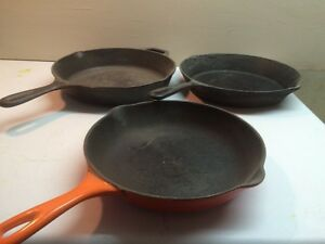 Wrought iron skillets