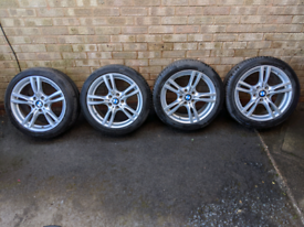 """BMW 3/4 series 18"""" 400m Alloy Wheels Tyres + TPMS Very Good Condition"""