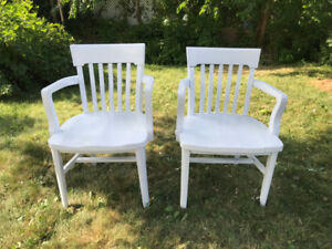 Vintage bankers chairs