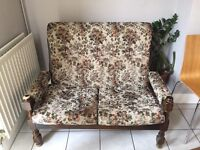 Settee sofa 2 seater approx 125cm wide. In Walthamstow