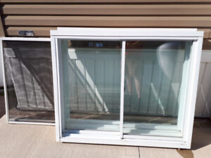 2 Vinyl Clad Slider Windows with Screens