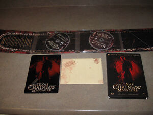Texas Chainsaw Massacre-2003 remake-2 dvds/plate/evidence-Cool!