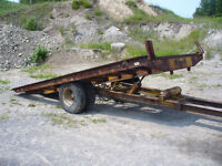 Heavy tilt top trailer for sale