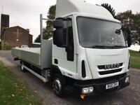 Iveco Eurocargo 75E16S 7.5T 21ft Dropside Ideal Scaffold Truck, Low Mileage