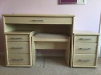 Dressing Table with 2 Bedside Tables and Stool