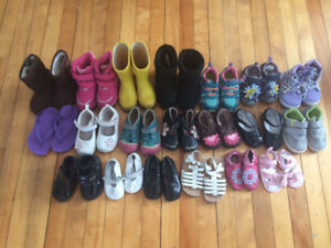 Lot of 20 Pairs of Sandals, Sneakers, Boots & Shoes - 12-24 mths