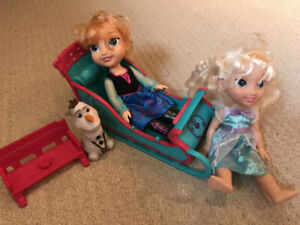 Jeu Poupées Frozen, jeunes enfants