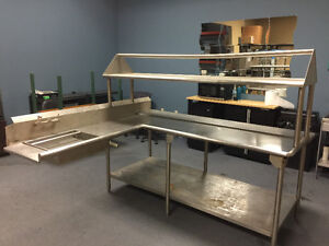 Stainless Steel Tabling with Drying Rack