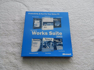 MICROSOFT WORKS SUITE 2003 - IN BOX WITH PRODUCT KEY
