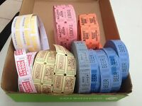 Rolls of tickets: great for shags