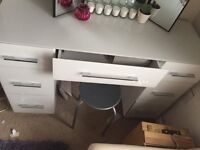 Large white glass vanity dressing table MUST GO