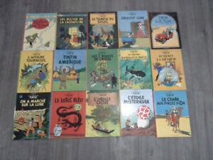 15 bandes dessinées de Tintin anciennes.
