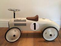 White Company Vilac Ride On Car - cream