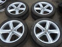 "18"" Audi alloy wheels alloys rims vw seat skoda Volkswagen 5x112"
