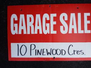 10 PINEWOOD CRES. QUISPAMSIS.....HUGE GARAGE/YARD SALE!