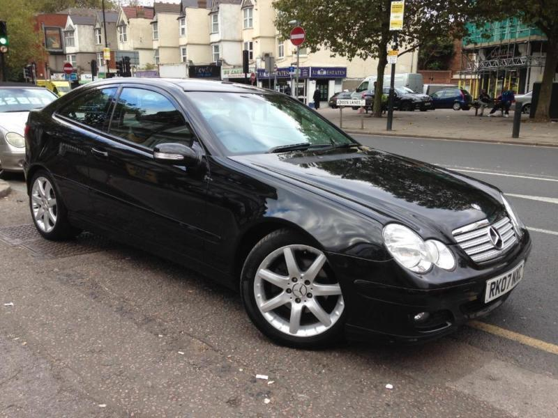 2007 mercedes c class c200 kompressor se sport evolution black auto petrol in haringey london. Black Bedroom Furniture Sets. Home Design Ideas