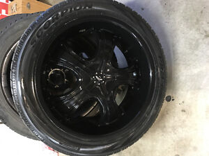 "4- 275 45 22 Pirelli Scorpions on black 22"" Chev/GMC rims, 6x139"