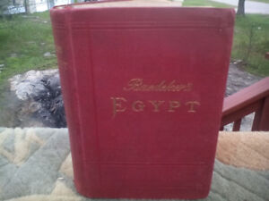 1902 Baedeker's Egypt hard book for travellers rare book