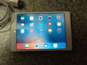 APPLE IPAD MINI, with Charger, crack in screen, works great $120