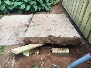Concrete slabs to give away