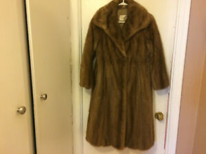 Vintage Mink Fur Coat, petite medium