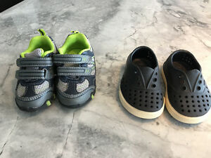 2--pairs of baby shoes