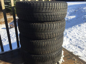 Four 195/65R15 Michelin X-Ice Winter Tires