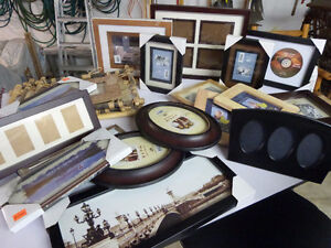 wide assortment of picture frames